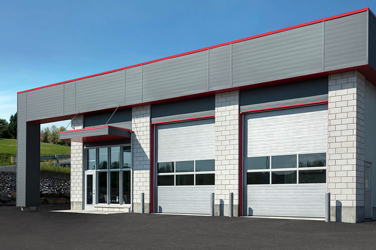 Commercial overhead door example